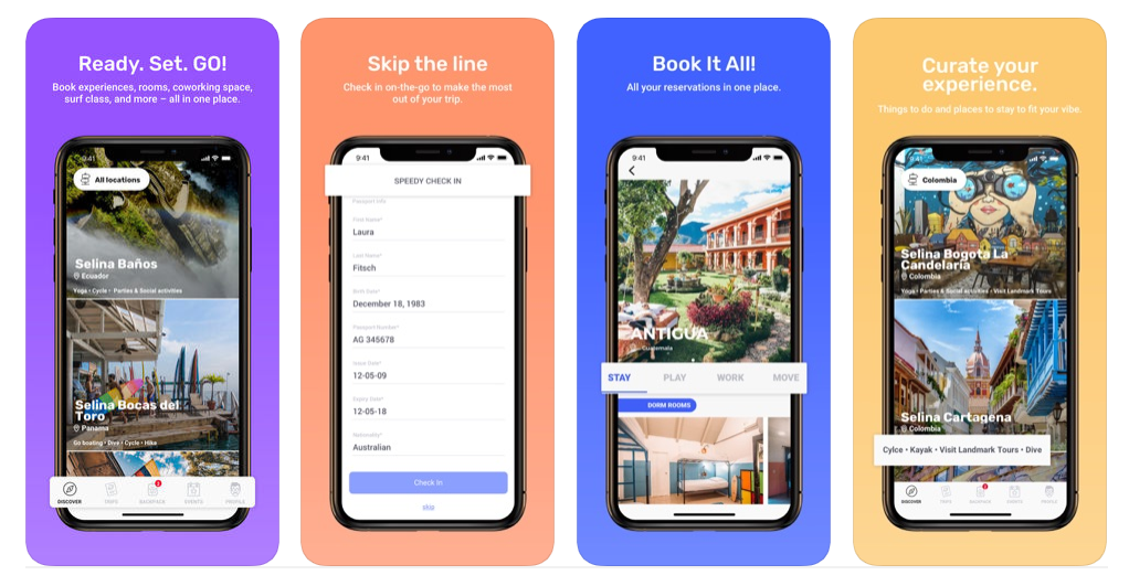 Hospitality app development: How Selina Lifestyle hospitality app providing a new network of living spaces for digital nomads?