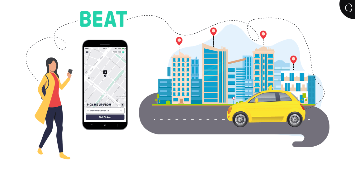 Taxi app Development-Beat Ride expansion, its strategies and cost to develop a taxi booking app