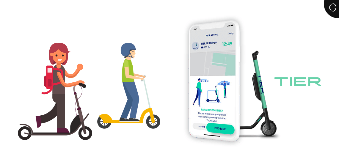 Want to Launch you own E-Scooter Sharing App Like TIER? Know Cost, Features and Hours Estimation