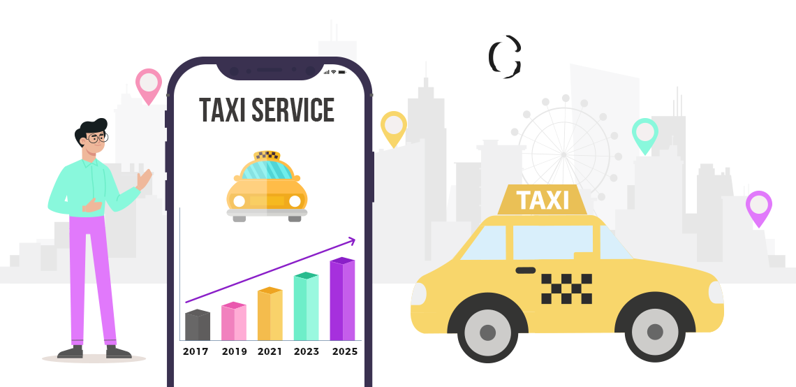 Taxi Booking App Development : The worldwide market scenario of taxi apps by 2025 and the factors that drive their growth