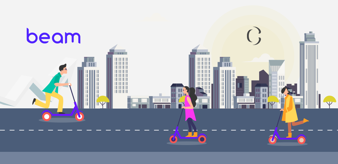 develop e-scooter app like Beam which moves to win Malaysian market.