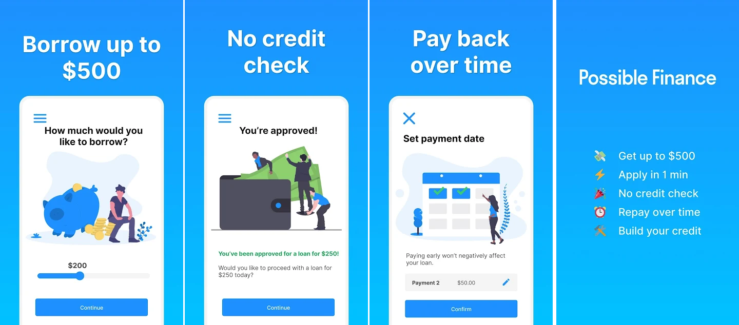 The mobile app of Possible Finance is the best example of how an app of P2P lending company should look like and act like.