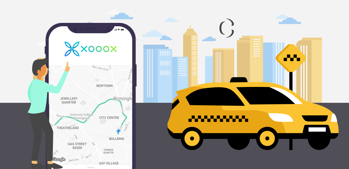 On demand taxi app, Taxi App Development, taxi booking app development, Xooox clone app