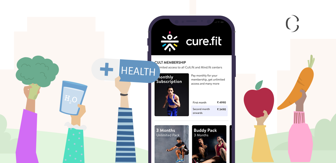 How can you conquer the world of health and wellness with an app like Cure.fit