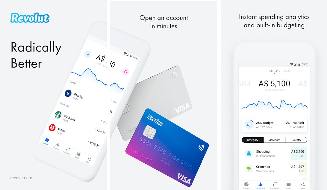 Develop FinTech app like Revolut to be a branch-free bank.