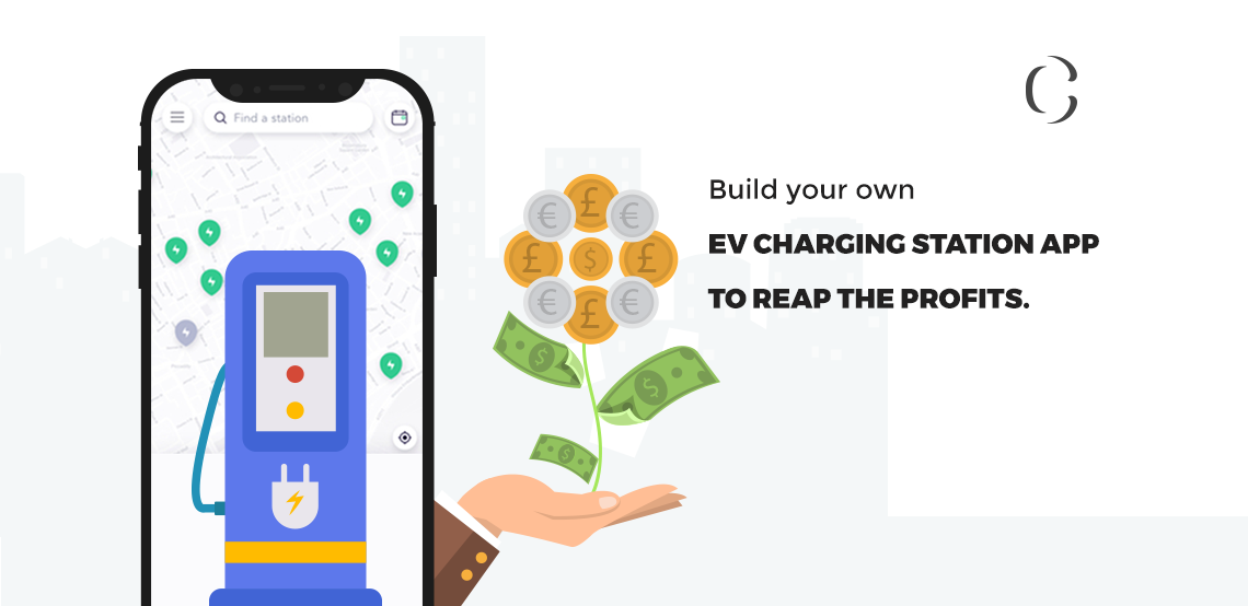 How are the EV charging station apps profitable and what is the current development in the market of EV charging stations