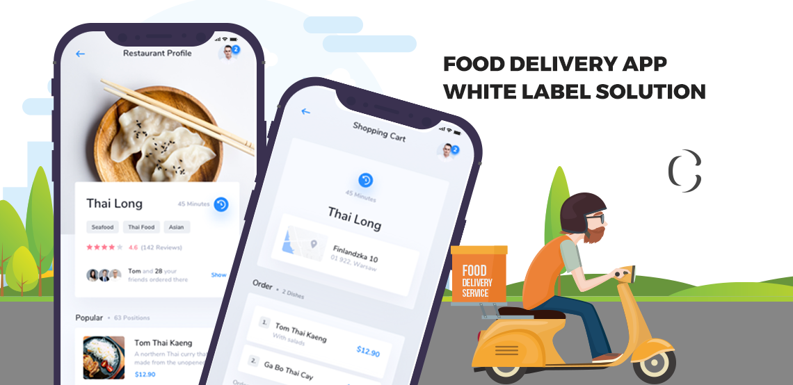 How can building your own food delivery app with our white label solution be beneficial