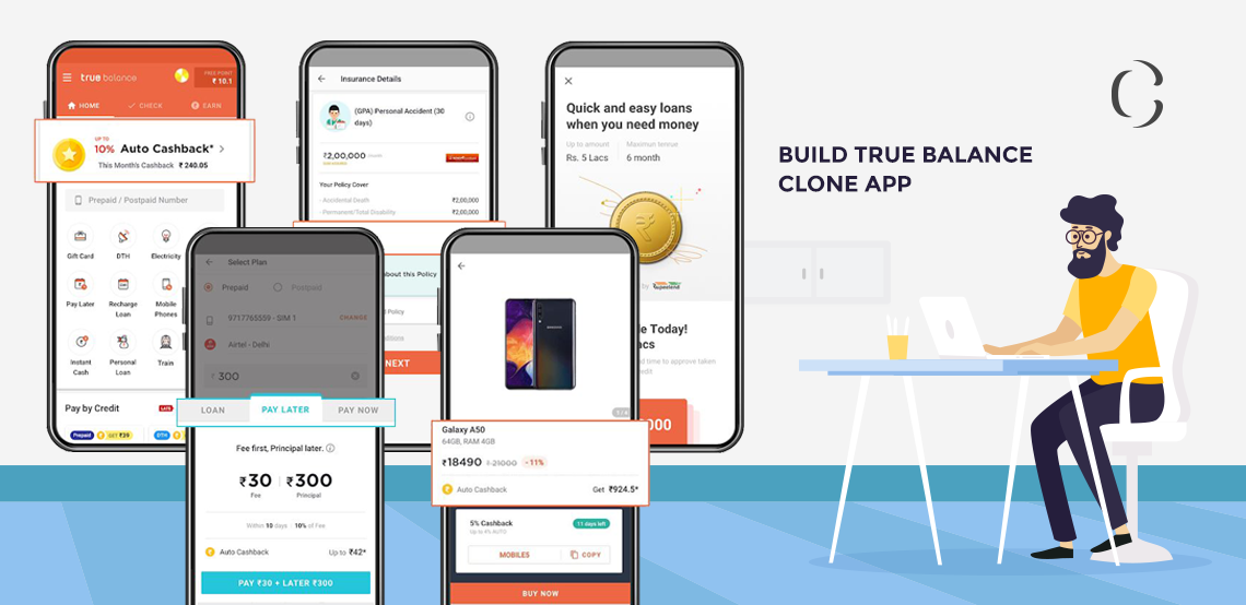 Build True Balance clone app, Fintech app development