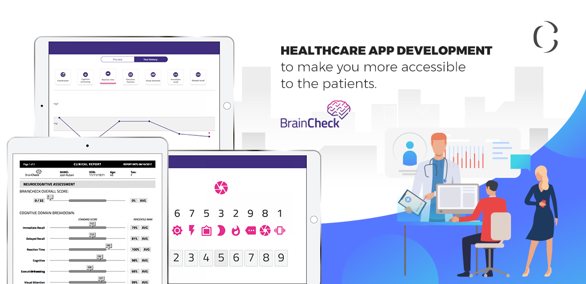 BrainCheck clone app-healthcare-app-development