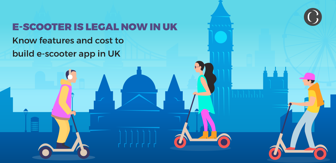 E-scooter is legal now in the UK