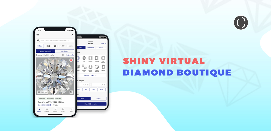An Eye To The Virtual Diamond Boutique App Development for Diamond Selling businesses